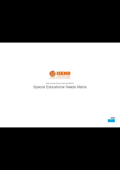 Special Educational Needs Matrix
