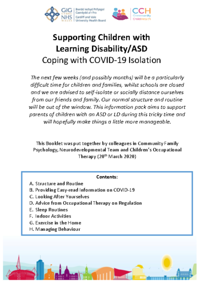Supporting Children with LD & ASD with COVID Isolation