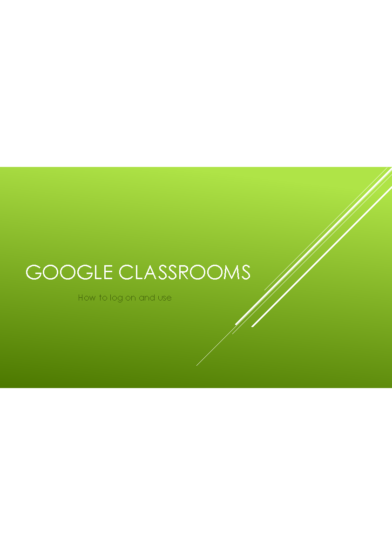 Google Classroom Parental Login Instructions