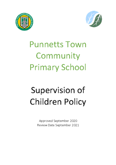 Supervision of Children Policy