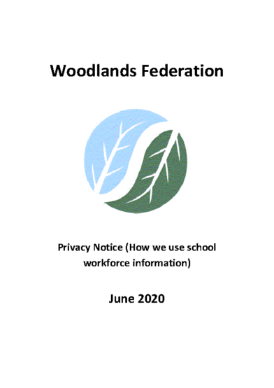Privacy Notice (How we use school workforce information)