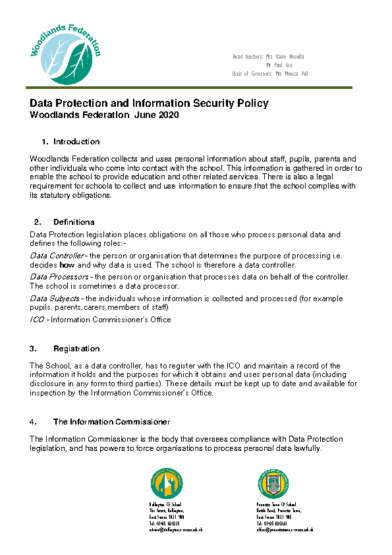 Data Protection & Information Security Policy
