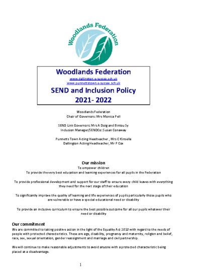 SEND & Inclusion Policy